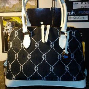 DOONEY & BOURKE black and white satchel